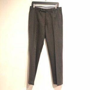 $695 INCOTEX Dark Brown Super 120's Wool Men's 34